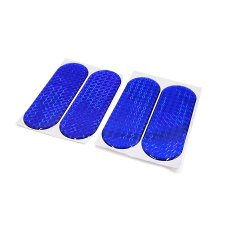 4Pcs Blue Reflective  Warning Self-adhesive Reflector Tape Sticker for Car