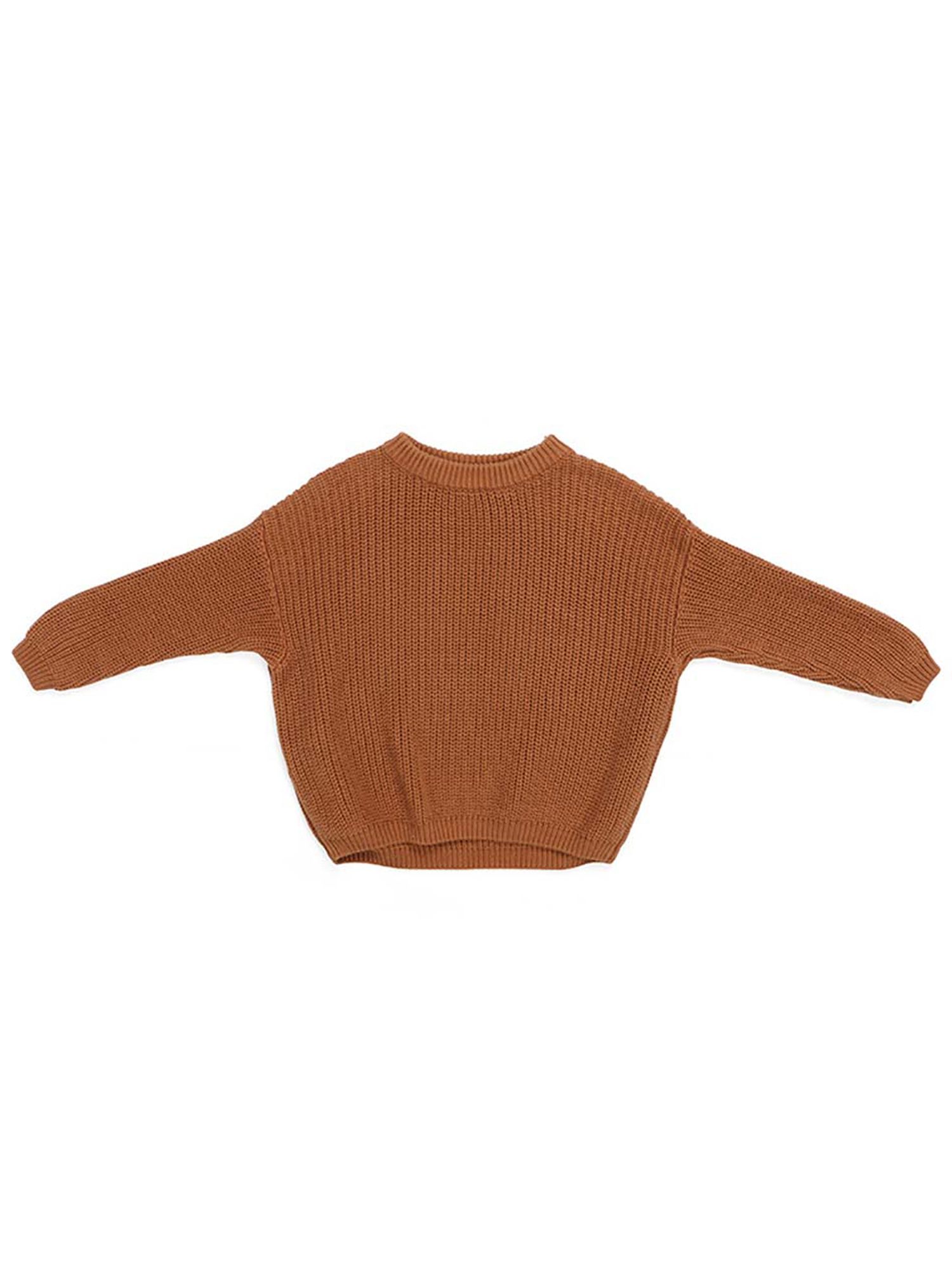 Toddler Baby Sweaters 1-5T Kids Boy Girl Fall Winter Long Sleeve Knitted Pullover Thick Top Solid Clothes