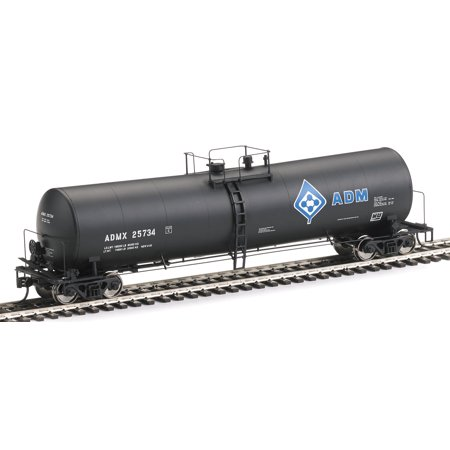 Walthers Ho Scale 54 23K Gallon Funnel Flo W Tank Car Adm Molecule Logo  25734