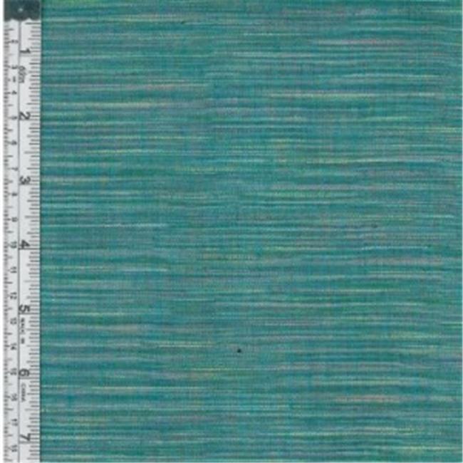 Textile Creations WR-003 Winding Ridge Fabric, Aqua Ikat With Slub, 15 yd.