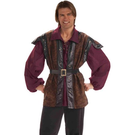 Medieval Mercenary Adult Halloween Costume - One Size - Medieval Vests