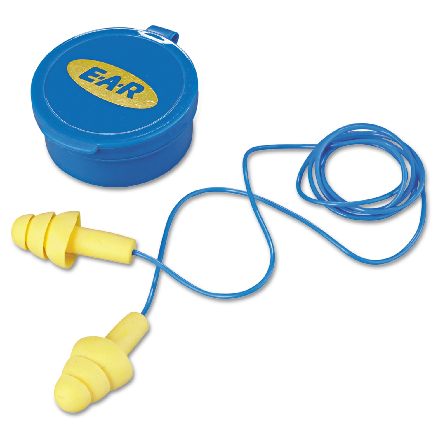 3M E·A·R UltraFit Multi-Use Earplugs, Corded, 25NRR, Yellow/Blue, 50 Pairs