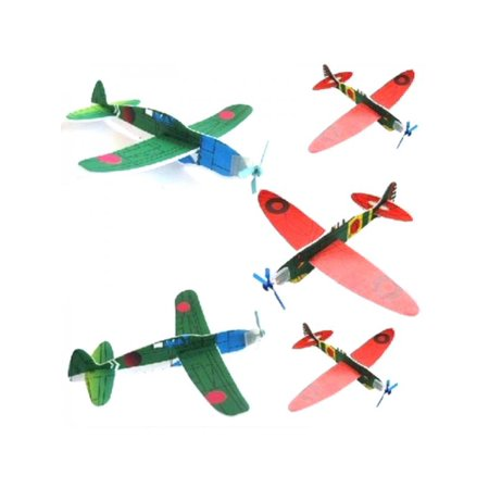 Lavaport 12Pcs Foam Glider Airplane Inertia Aircraft Toy Model ()