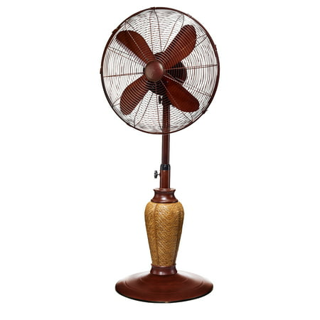 DecoBREEZE Adjustable Height Oscillating Outdoor Pedestal Fan, 18-Inch,