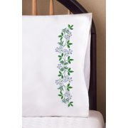 """Design Works Forget Me Not Pillowcases - 2 standard size (20"""" x 30"""")"""