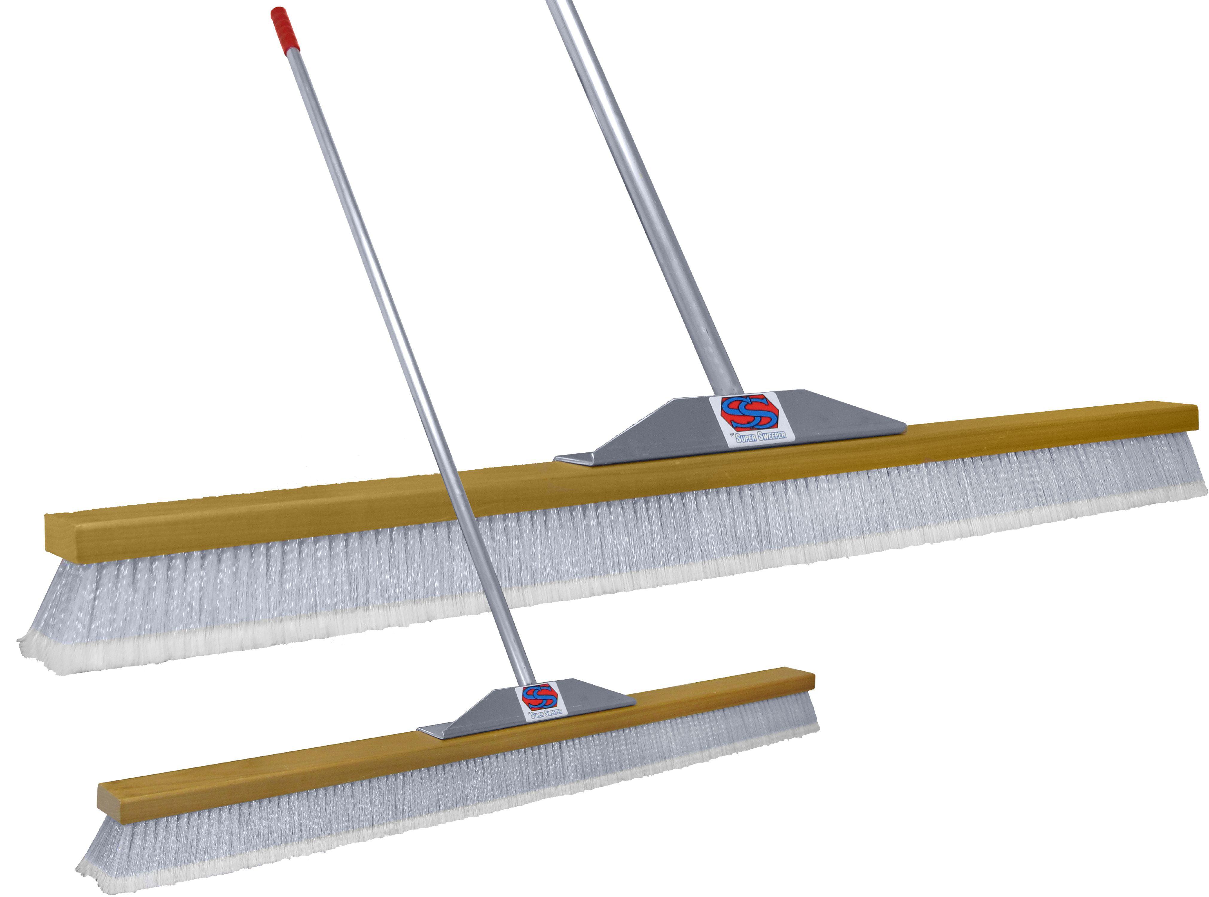 "48"" Gray Flagged Super Sweeper Broom by Super Sweep Inc."