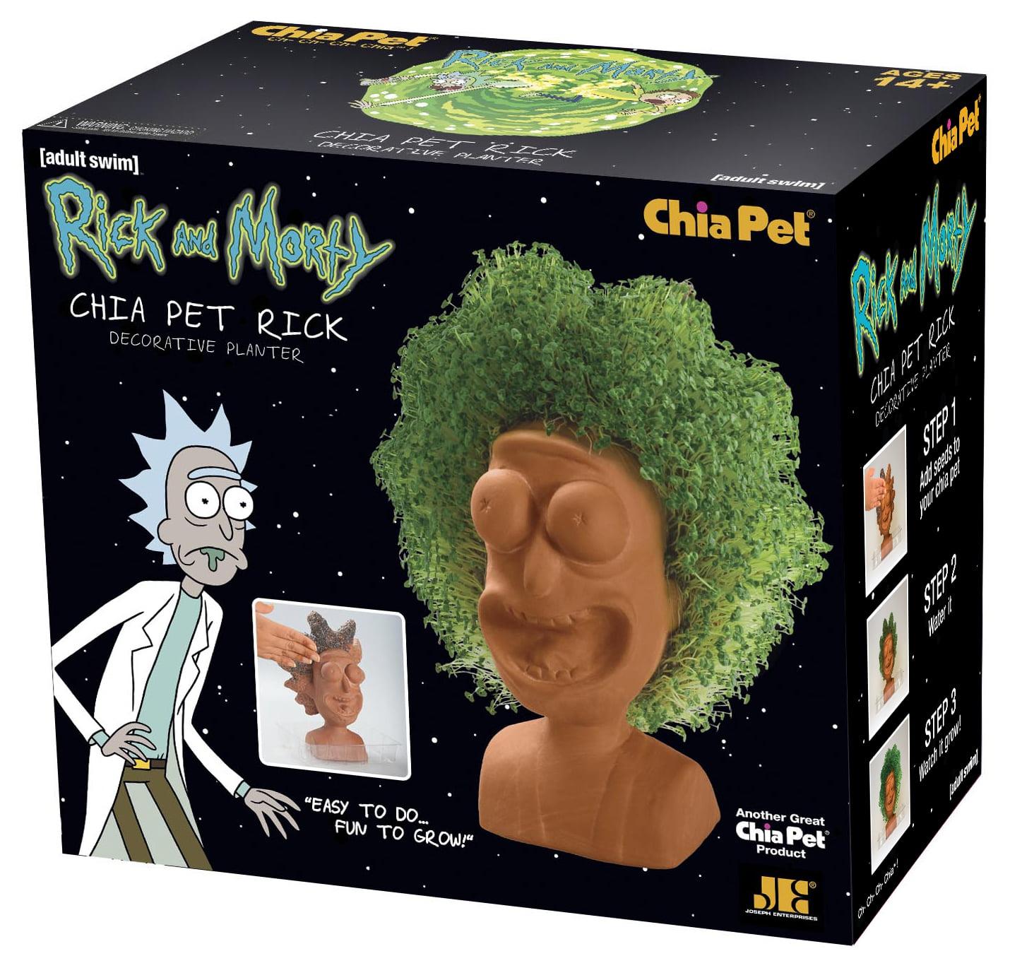 "Chia Pet ""Rick"" from Rick & Morty - Decorative Pottery Planter"