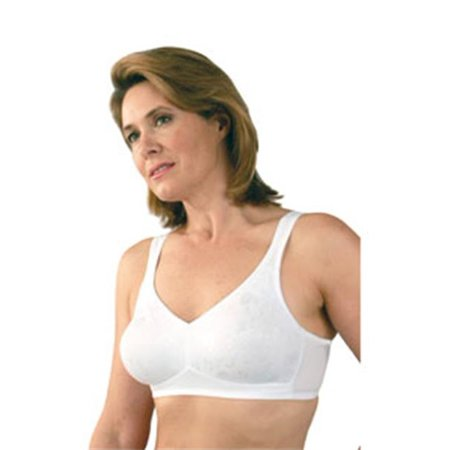 classique 769e post mastectomy fashion bra, white - size 40a (40a Bras)