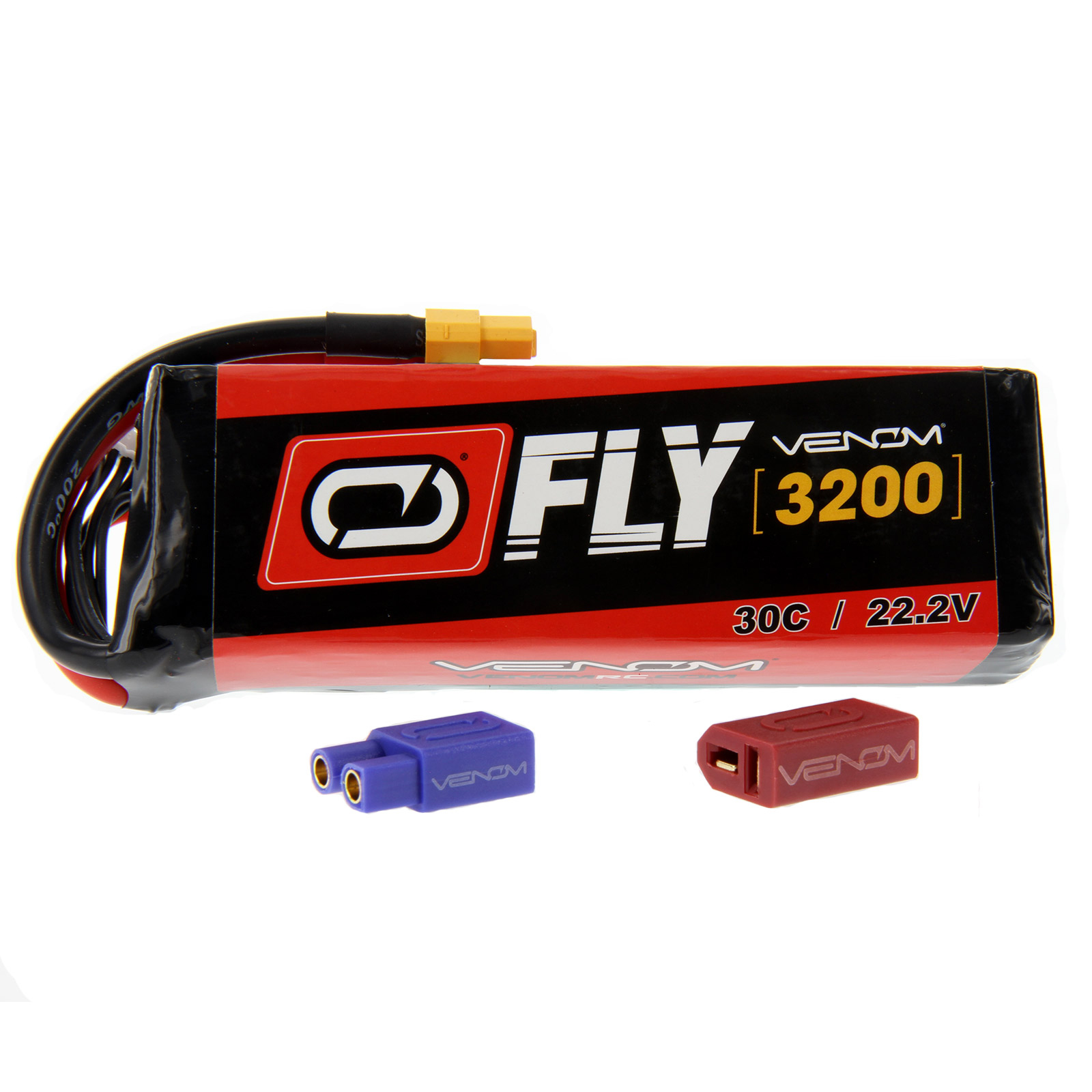 Venom Fly 30C 6S 3200mAh 22.2V LiPo Battery with UNI 2.0 Plug (XT60/Deans/EC3) - Compare to E-flite EFLB32006S30