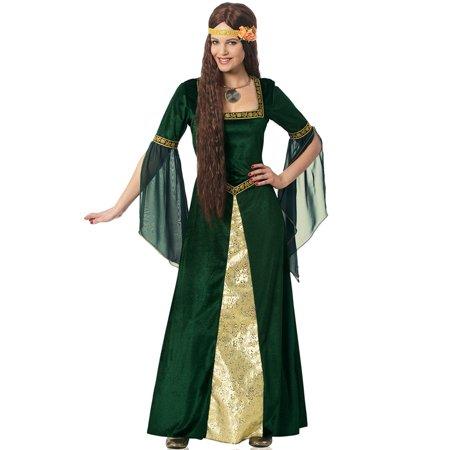 Emerald Renaissance Lady Adult Costume
