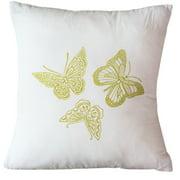 Sustainable Threads Butterflies Indoor/Outdoor Throw Pillow