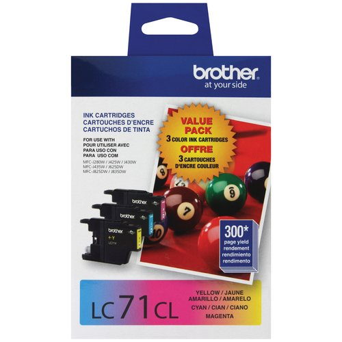 Brother Innobella Cyan, Magenta and Yellow Standard Yield Inkjet Cartridges Combo (LC713pks)