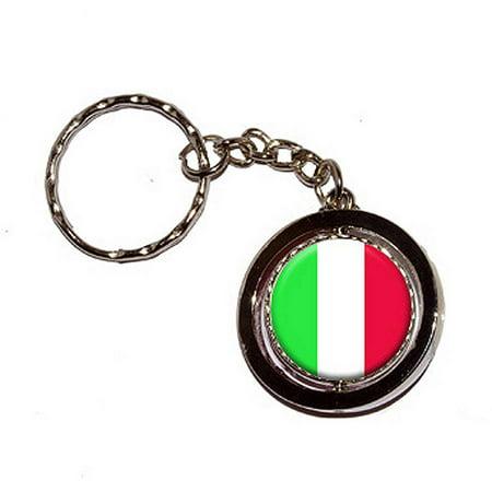 Italy Italian Flag Key Chain Keychain Ring