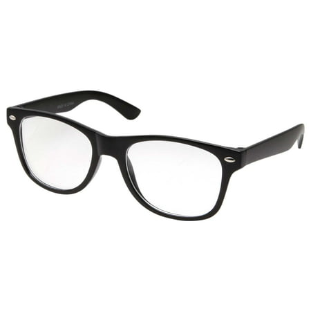 Small KIDS SIZE Retro Color Frame Clear Lens Glasses NERD Costume Fun Boys Girls (Age 3-10), Black - Costume Contact Lenses