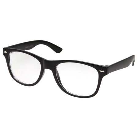Small KIDS SIZE Retro Color Frame Clear Lens Glasses NERD Costume Fun Boys Girls (Age 3-10), Black - Guys Nerd Costume