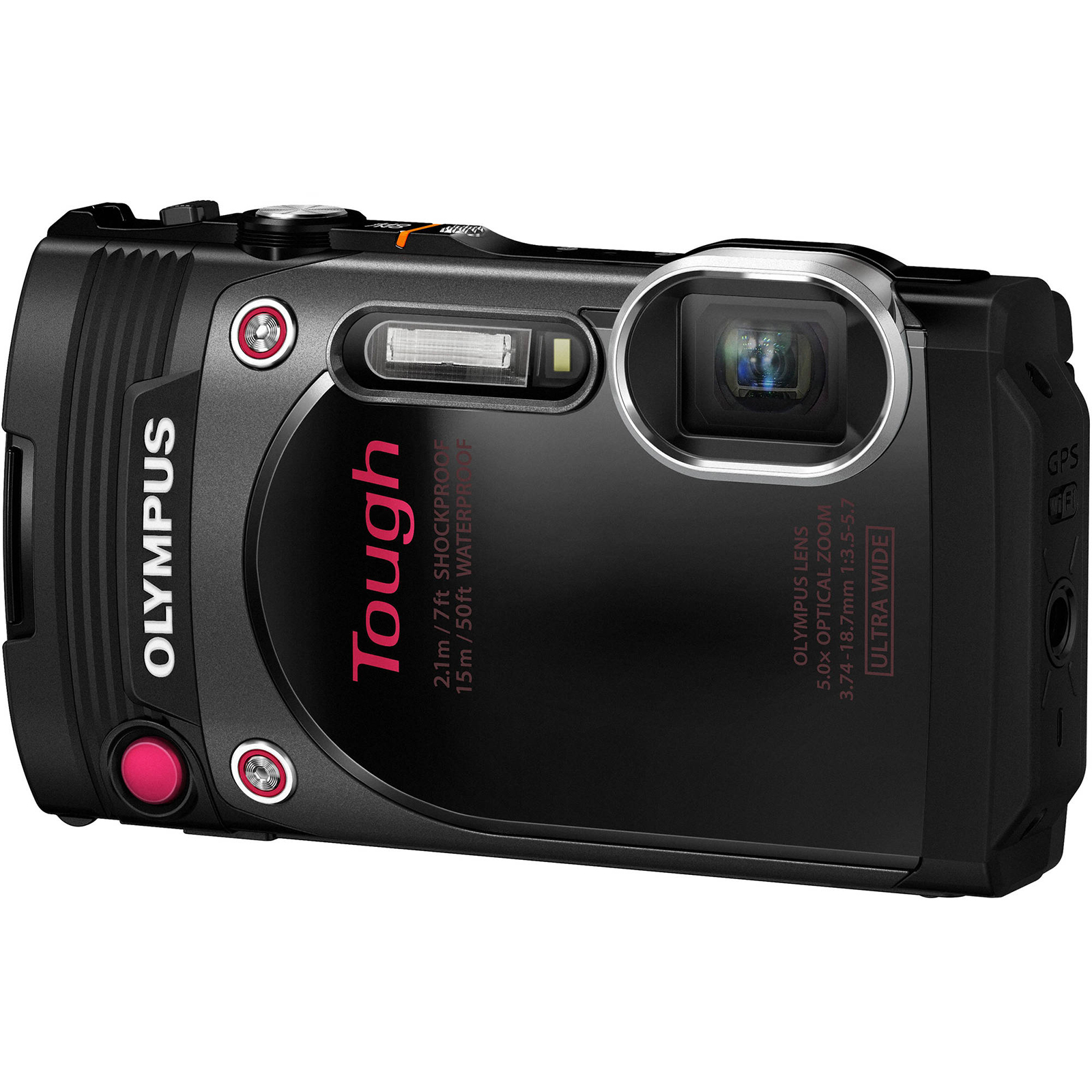 Olympus Tough TG-870 Wi-Fi GPS Shock & Waterproof Digital Camera (Black)