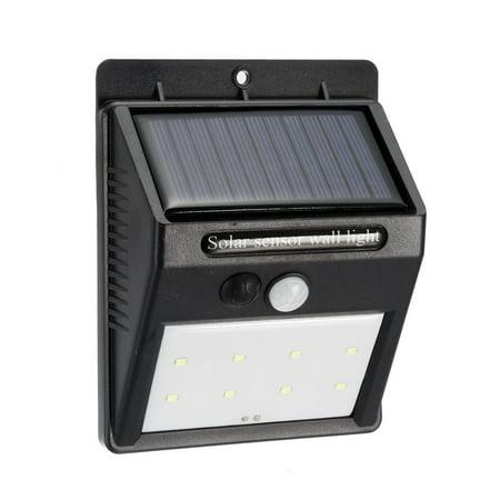 LED Solar Light PIR CDS Motion Sensor Lamp 8 LEDs 80 Lumens Waterproof - image 8 of 8