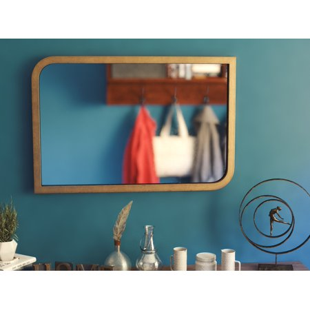 "Swoop 36"" Wall Mirror - Painted Brass"