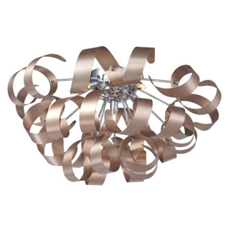 Artcraft Bel Air 5 Light Flush Mount Light Add a little whimsy to your modern interior with the imaginative design of the Artcraft Bel Air 5 Light Flush Mount Light. The ceiling light features five downlights that extend in different directions and reflect against a halo of playful metal curls. Artcraft Since 1955, Artcraft Lighting has operated on the belief that beautiful lighting should be as much about the experience as the light fixtures themselves. And to create that meaningful experience, Artcraft Lighting strives to provide lighting products that are designed to meet your decor, lifestyle, and budget needs - all while ensuring top quality and impeccable customer service. With Artcraft Lighting products, you can reap the benefits of more than 60 years of lighting experience.