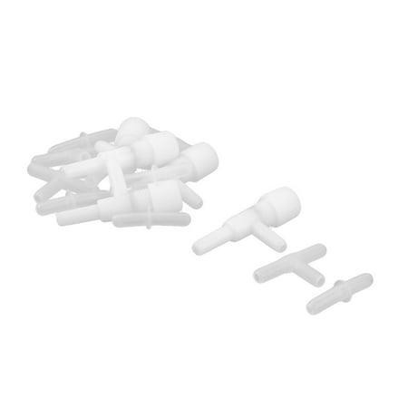 Aquarium Plastic Air Line Tubing Flow Control Valve Straight Connectors 15 in 1