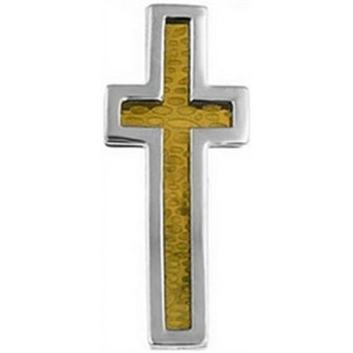 Doma Jewellery DJS01044 Gold Plated Stainless Steel Cross Pendant with Gold Plating