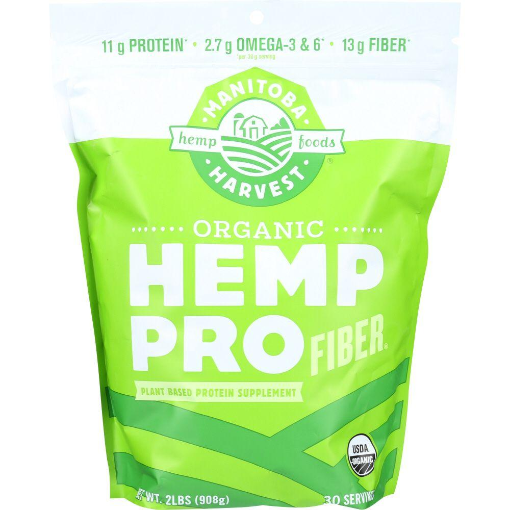 Manitoba Harvest Plant Based Protein Supplement Hemp Pro Fiber Organic, 32 Oz