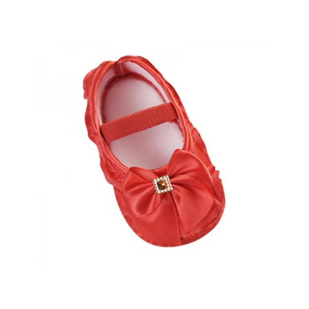 7dfe5d63abb Nicesee - Nicesee Newborn Infant Baby Girl Bowknot Soft Sole Crib Shoes  Prewalker 0-18 Months - Walmart.com