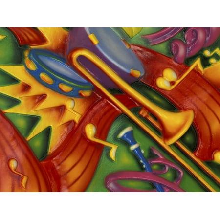 Colorful Poster Along the Riverwalk, New Orleans, Louisiana, USA Print Wall Art By Adam Jones