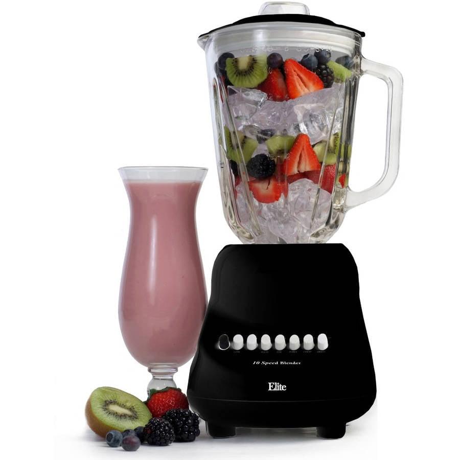 Maxi Matic Elite Gourmet 10-Speed Blender with 48 oz Glass Jar