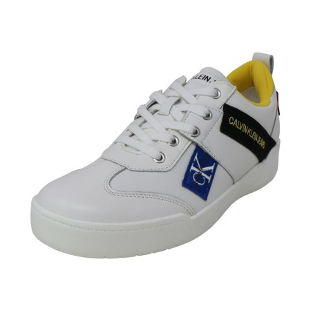 Calvin Klein Men's Norm Action Leather Bright White Ankle-High Sneaker - 10.5M