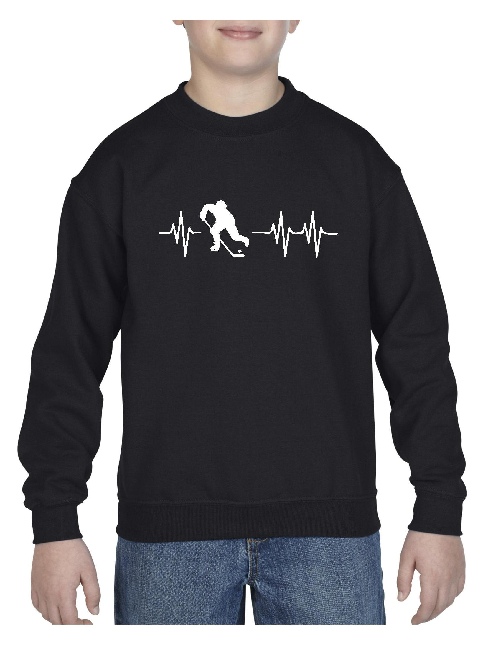 Hockey Unisex Youth Crewneck Sweatshirt