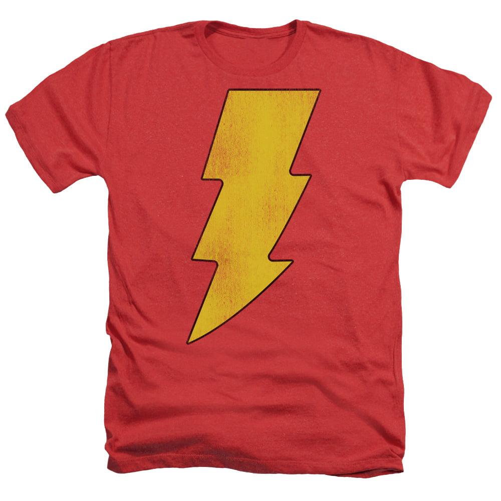 DC Comics Shazam Logo Distressed Mens Heather Shirt