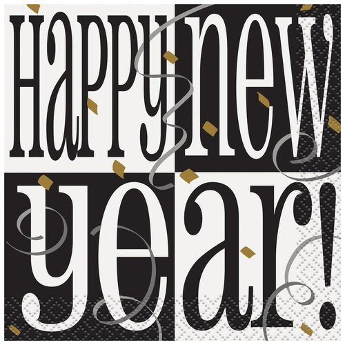 Happy New Year Cocktail Napkins, 16-Count