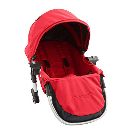 Baby Jogger City Select Second Seat Kit with Silver Frame, Ruby
