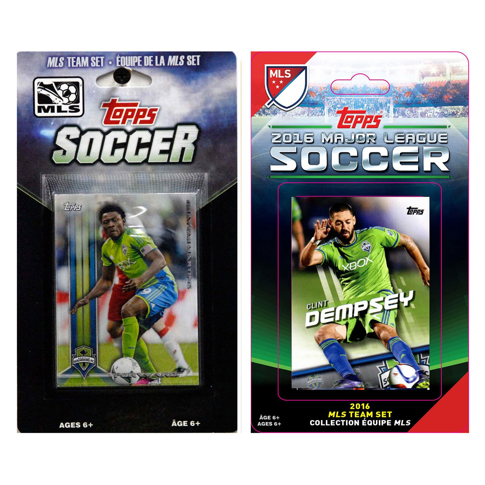 C&I Collectables MLS Seattle Sounders 2 Different Licensed Trading Card Team Sets
