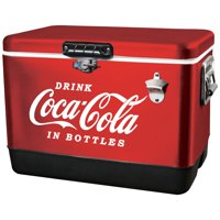 Coca-Cola 85 Can Stainless Steel Ice Chest with Bottle Opener (54 Quarts/51 Liters)
