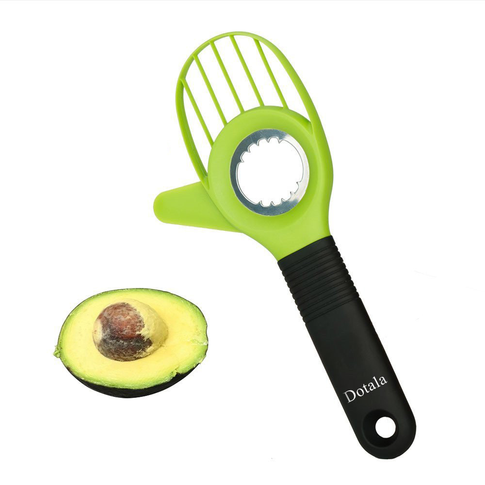 Avocado Slicer, Mango Splitter, Dotala 3-in-1 Pitter and Cutter as knife peeler scoop with Comfort-Grip Handle