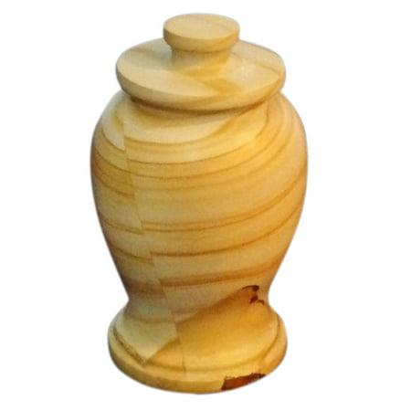 Teak Marble Funeral Keepsake Cremation Urn For Ashes