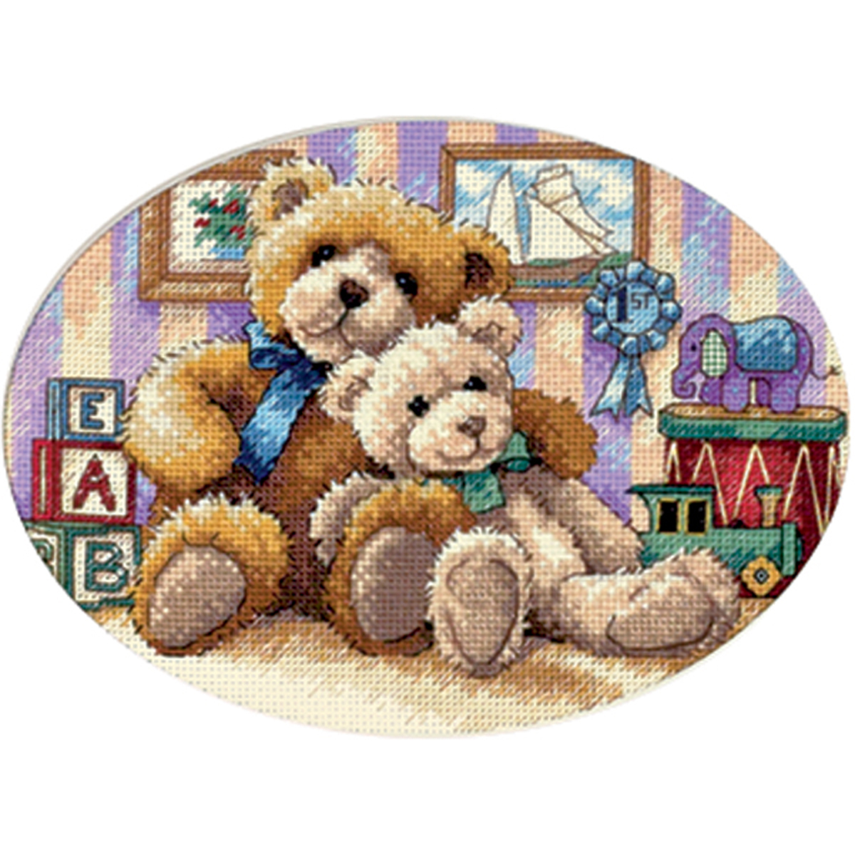 """Dimensions Gold Collection Petite """"Warm and Fuzzy"""" Counted Cross Stitch Kit, 7"""" x 5"""""""