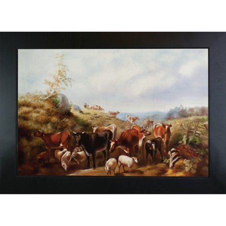 Tori Home Down The Road In Franklin County New York By Arthur Fitzwilliam Tait Framed Painting Print