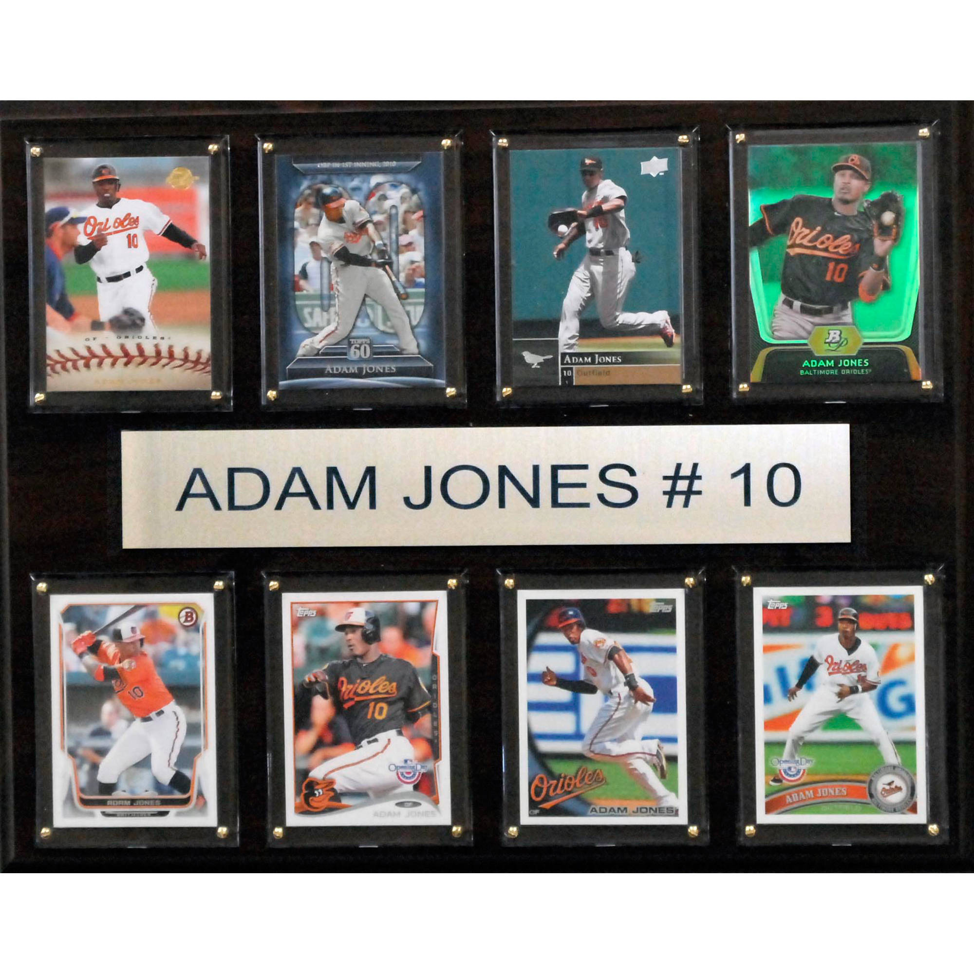 C&I Collectables MLB 12x15 Adam Jones Baltimore Orioles 8-Card Plaque