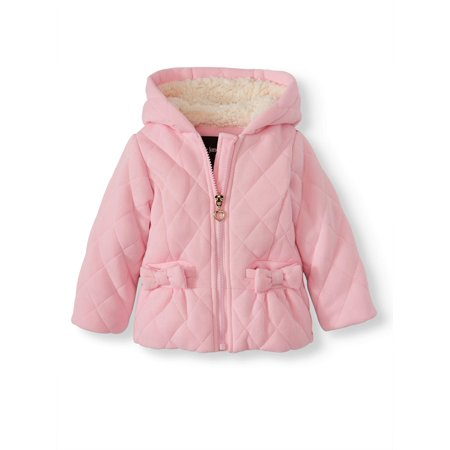 BHIP Baby Toddler Girl Quilted Peplum Winter Jacket Coat (Quilted Kids Jacket)