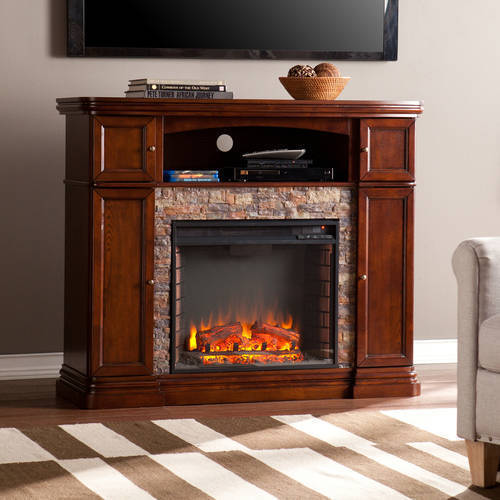 Southern Enterprises Monfort Electric Media Fireplace Console,for TV;s up to 46;,