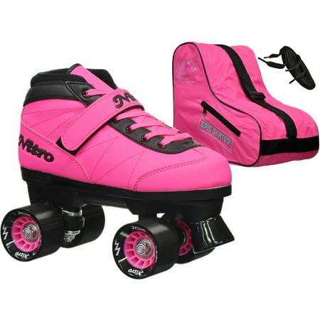 Epic Nitro Turbo Pink Quad Speed Skates Package