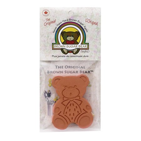 Original Brown Sugar Saver and Softener, Terracotta, Brown Sugar Bear maintains moisture in brown sugar for approximately 3 to 6 months By Brown Sugar Bear