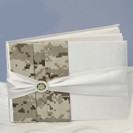 Ivy Lane Design Jamie Lynn Military Wedding Collection 10-3045 Army Camouflage Guest Book