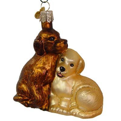 Puppy Love Christmas Ornament 12321 Merck Family Old World