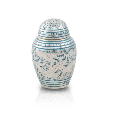 Going Home Cremation Keepsake   Blue Brass 5 Pounds Keepsake