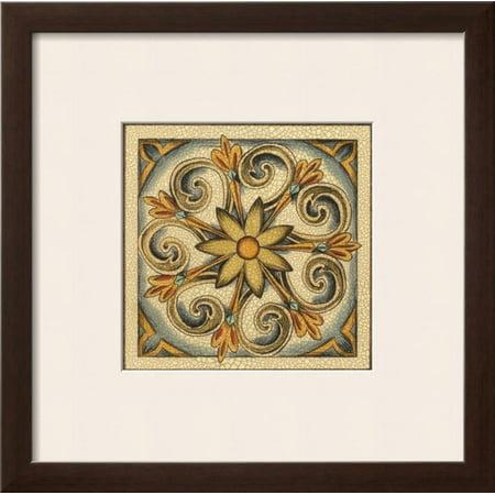 - Crackled Cloisonne Tile II Framed Art Print Wall Art  By Chariklia Zarris - 19x10