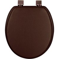 Ginsey Soft Round Soft Toilet Seat, Chocolate Brown
